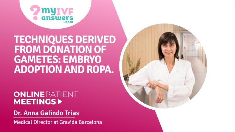 Techniques derived from donation of gametes: embryo adoption and ROPA #OnlinePatientMeeting