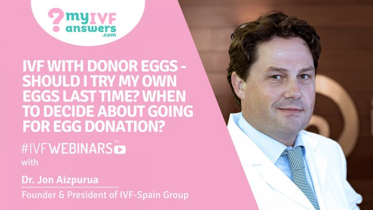IVF with donor eggs - should I try my own eggs last time? When to decide about going for egg donation?