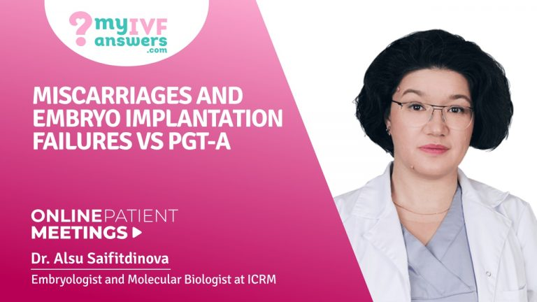 Miscarriages and embryo implantation failures vs. PGT-A #OnlinePatientMeeting