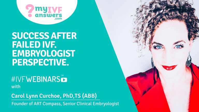 Embryologist perspective on success after failed IVF attempt